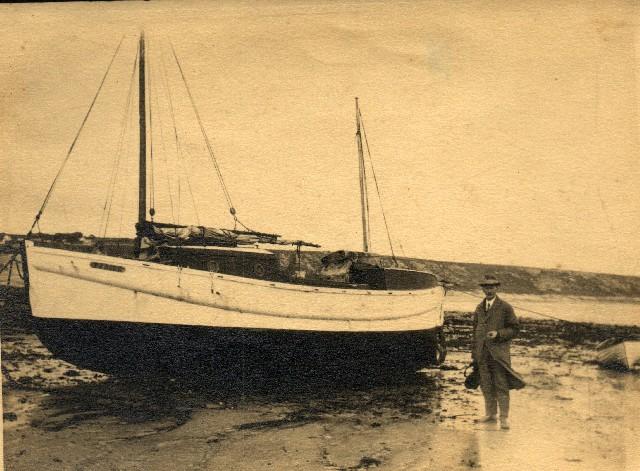 1877 Thomas and boat. A man of many talents.