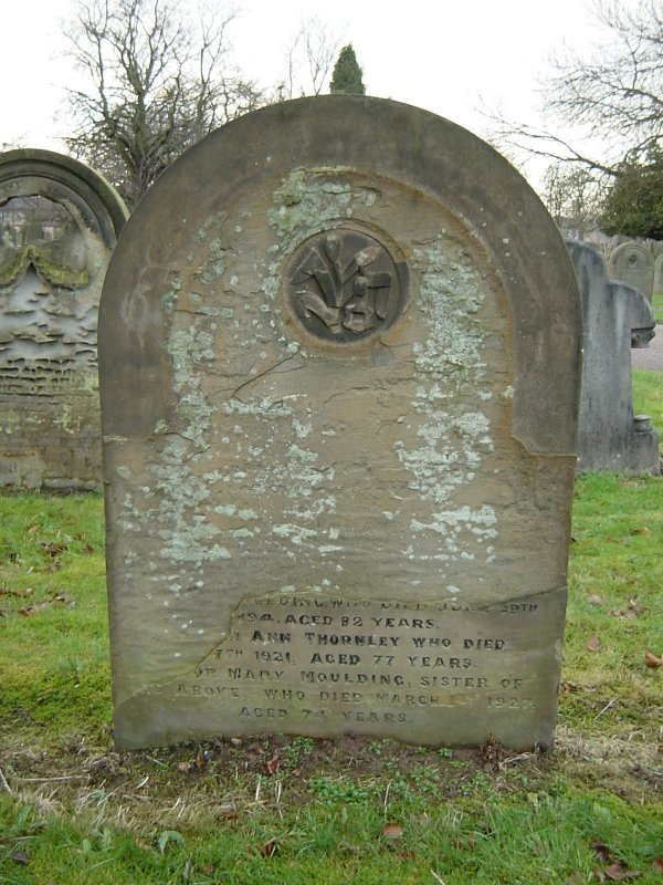 Gravestone of Ellen Moulding and family