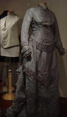 Martha's grey wedding dress