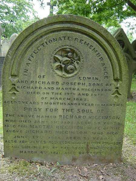 Higginson family grave